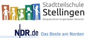 Logo des NDR und der Stadtteilschule Stellingen