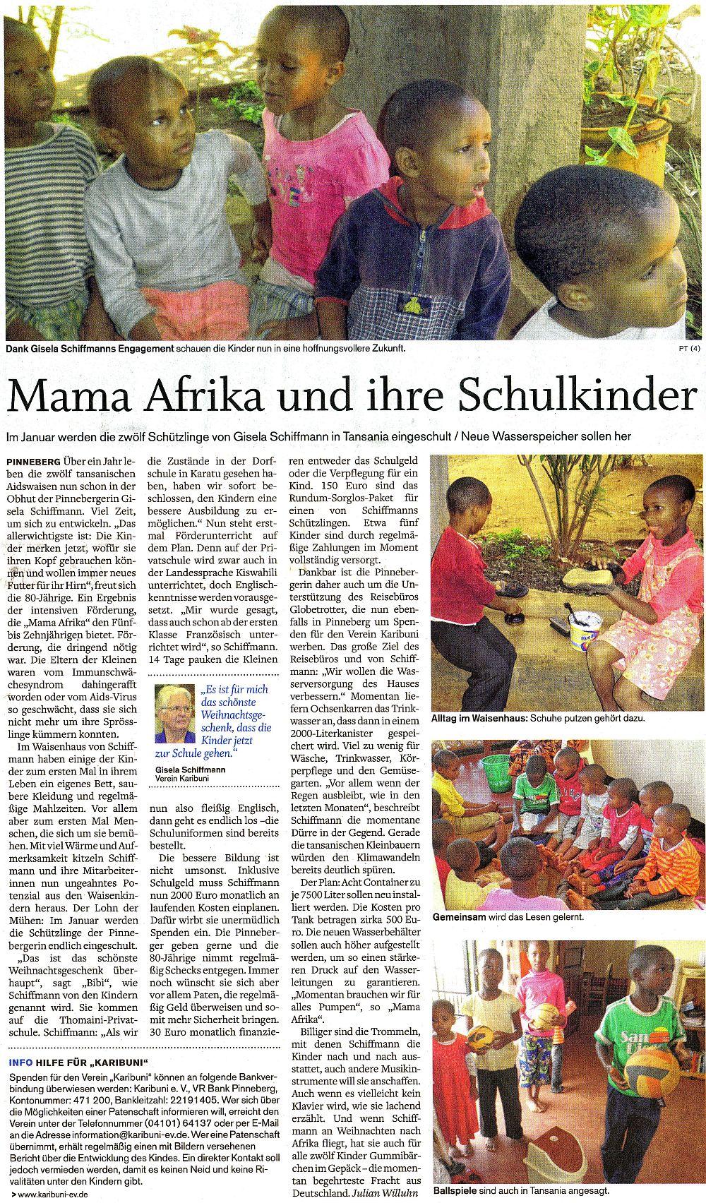 Mama Afrika und ihre Schulkinder